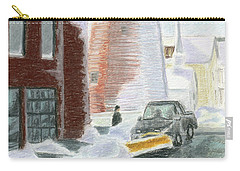 Winter On Munjoy Hill Carry-all Pouch