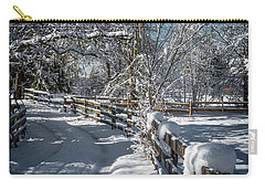 Winter On Ruskin Farm Carry-all Pouch