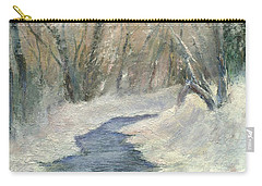 Carry-all Pouch featuring the painting Winter On Stormcreek by Gail Kirtz