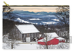 Winter On The Farm On The Hill Carry-all Pouch