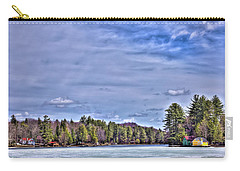 Carry-all Pouch featuring the photograph Winter On The Pond by David Patterson
