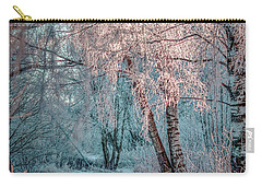 Carry-all Pouch featuring the photograph Winter Path #h1 by Leif Sohlman