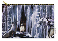 Winter Playground Carry-all Pouch by Pennie  McCracken