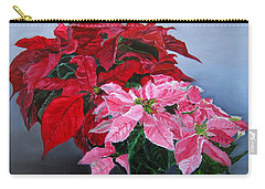Winter Poinsettias Carry-all Pouch