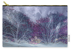 Carry-all Pouch featuring the photograph Winter Purple by Nareeta Martin