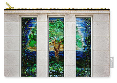 Winter Quarters Temple Tree Of Life Stained Glass Window Details Carry-all Pouch
