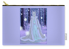 Carry-all Pouch featuring the painting Winter Queen by Amyla Silverflame