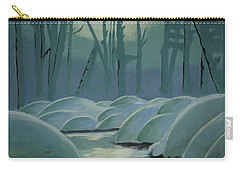 Carry-all Pouch featuring the painting Winter Quiet by Jacqueline Athmann