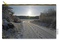 Winter Road Carry-all Pouch
