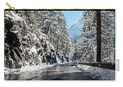 Winter Road Carry-all Pouch by Sergey Simanovsky