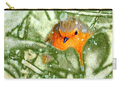 Carry-all Pouch featuring the photograph Winter Robin by LemonArt Photography
