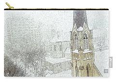 Winter Scene A La Van Gogh Carry-all Pouch by Yvonne Wright