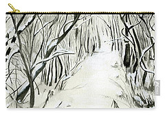 Carry-all Pouch featuring the painting Winter Scene by Nadine Dennis