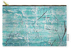 Carry-all Pouch featuring the painting Winter Scene Portrait by Jocelyn Friis