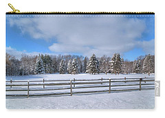 Carry-all Pouch featuring the photograph Winter Scenery 14589 by Guy Whiteley