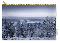 Winter Scenery Of The Lake Hiidenvesi Bw Carry-all Pouch