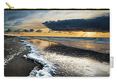 Winter Sea Sunset Carry-all Pouch