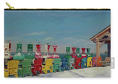 Carry-all Pouch featuring the painting Winter Sentries by Lynne Reichhart