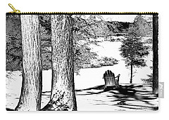 Carry-all Pouch featuring the photograph Winter Shadows by David Patterson