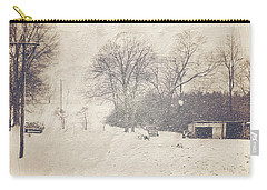 Winter Snow Storm At The Farm Carry-all Pouch