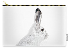 Carry-all Pouch featuring the photograph  Winter Snowshoe Hare by Jennie Marie Schell
