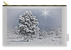 Carry-all Pouch featuring the photograph Winter Solitude 2 by Diane Alexander