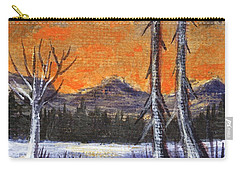 Carry-all Pouch featuring the painting Winter Solitude #3 by Anastasiya Malakhova