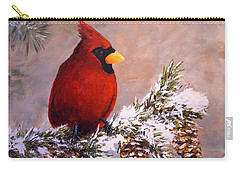 Carry-all Pouch featuring the painting Winter Song by Alan Lakin
