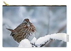 Winter Song Sparrow - 365-301 Carry-all Pouch by Inge Riis McDonald