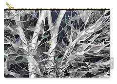 Carry-all Pouch featuring the digital art Winter Song by Wendy J St Christopher