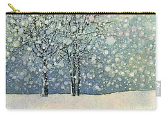 Carry-all Pouch featuring the painting Winter Sonnet by Hailey E Herrera
