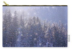 Winter Sparkle Carry-all Pouch by Kathy Bassett