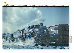 Winter Steam Train Carry-all Pouch by Randy Steele