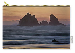 Carry-all Pouch featuring the photograph Winter Storm - 365-248 by Inge Riis McDonald