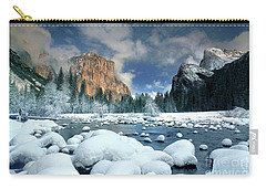 Carry-all Pouch featuring the photograph Winter Storm In Yosemite National Park by Dave Welling