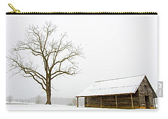 Carry-all Pouch featuring the photograph Winter Storm On The Farm by George Randy Bass