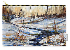 Winter Stream Carry-all Pouch by Judith Levins