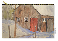 Winter Sugar House Carry-all Pouch by Stanton Allaben