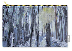Carry-all Pouch featuring the painting Winter Sun by Robin Maria Pedrero