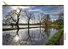 Carry-all Pouch featuring the photograph Winter Sun by Shirley Mitchell