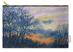 Carry-all Pouch featuring the painting Winter Sundown Sketch by Kathleen McDermott