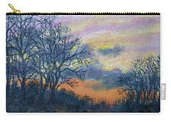Winter Sundown Sketch Carry-all Pouch by Kathleen McDermott