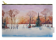 Winter Sunrise Carry-all Pouch by Geni Gorani