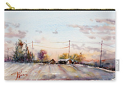 Winter Sunrise On The Lane Carry-all Pouch by Judith Levins