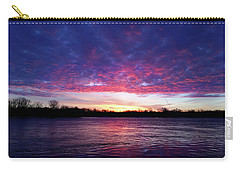 Winter Sunrise On The Wisconsin River Carry-all Pouch