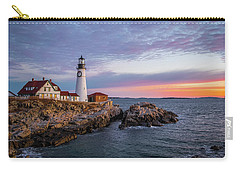 Winter Sunrise Over Portland Head Light Carry-all Pouch