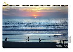 Carry-all Pouch featuring the photograph Winter Sunset At Carmel Beach by Susan Wiedmann