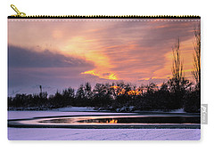 Carry-all Pouch featuring the photograph Winter Sunset by Bryan Carter