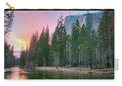 Winter Sunset On Horsetail Falls Carry-all Pouch