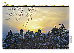 Winter Sunset On The Tree Farm #1 Carry-all Pouch
